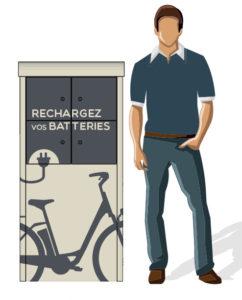 Modèle de borne de recharge pour vélo à assistance électrique - 2018