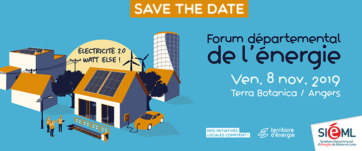 Save the date | forum départemental de l'énergie : électricité 2.0 watt else !