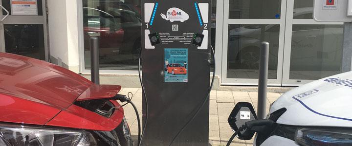 recharge de véhicules électriques sur le réseau smilemobi
