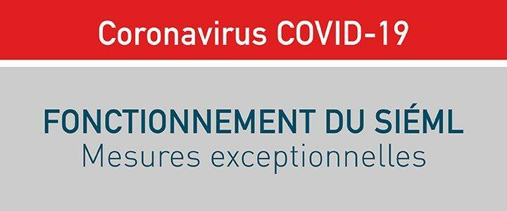 [Coronavirus] Fonctionnement du Siéml : mesures exceptionnelles