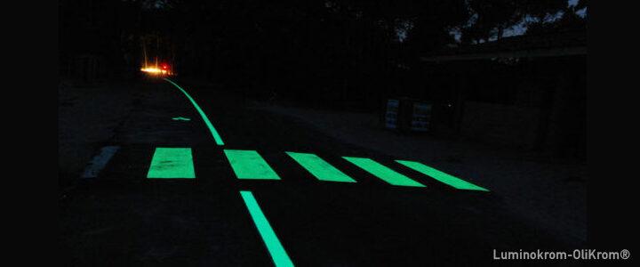 Réduire la pollution lumineuse ? La peinture photoluminescente expérimentée